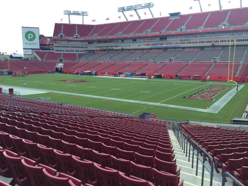 Seating view for Raymond James Stadium Section 140 Row Cc Seat 24