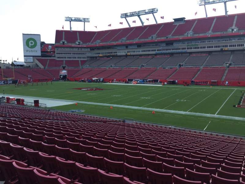 Seating view for Raymond James Stadium Section 139 Row Cc Seat 24