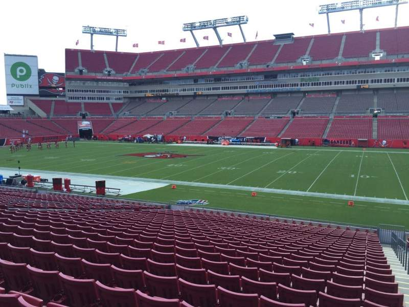 Seating view for Raymond James Stadium Section 138 Row Cc Seat 24