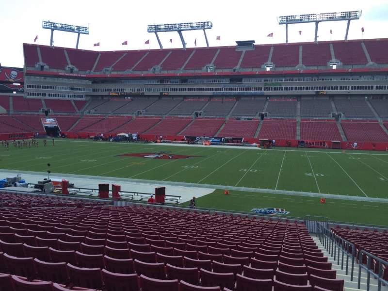 Seating view for Raymond James Stadium Section 137 Row Cc Seat 24