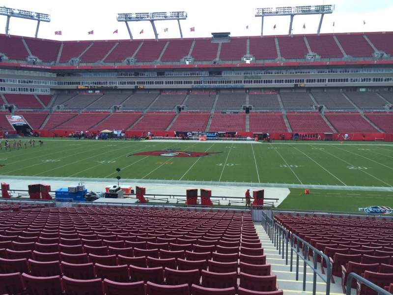 Seating view for Raymond James Stadium Section 136 Row Cc Seat 24