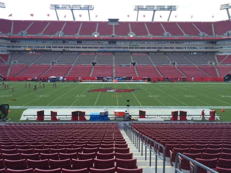 Seating view for Raymond James Stadium Section 135 Row Cc Seat 24