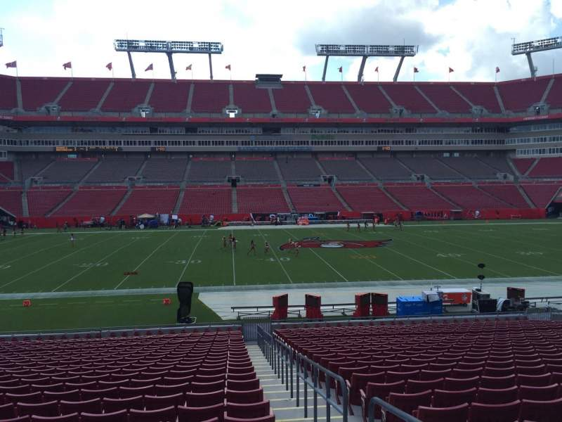 Seating view for Raymond James Stadium Section 134 Row Cc Seat 23