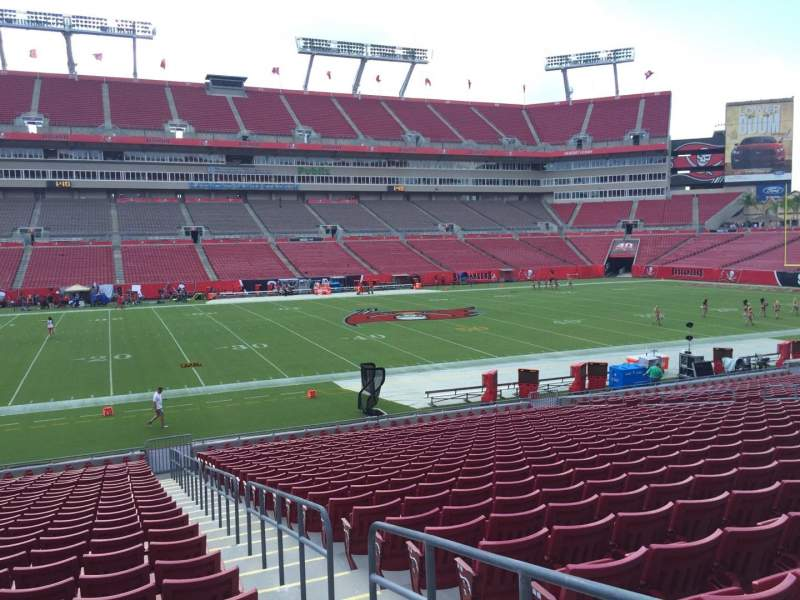 Seating view for Raymond James Stadium Section 133 Row Cc Seat 23