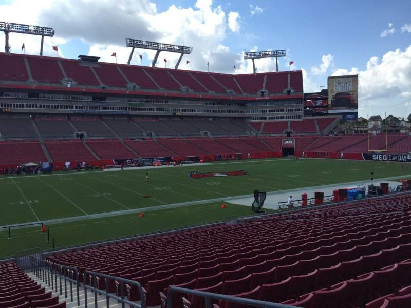 Seating view for Raymond James Stadium Section 132 Row Cc Seat 24