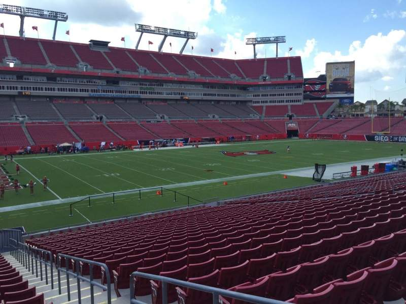 Seating view for Raymond James Stadium Section 131 Row Cc Seat 24