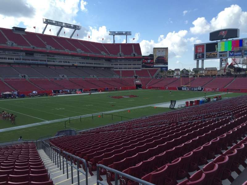 Seating view for Raymond James Stadium Section 128 Row Cc Seat 24