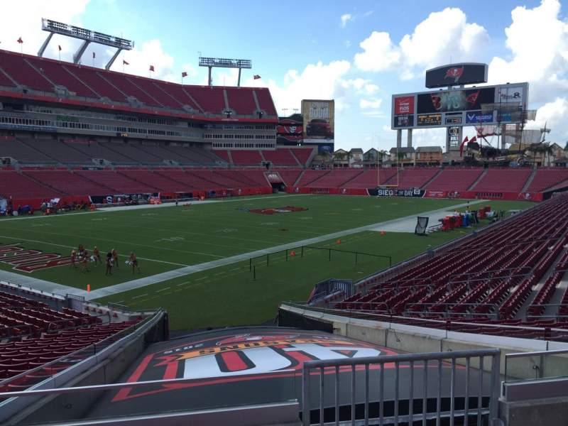 Seating view for Raymond James Stadium Section 127 Row Cc Seat 24