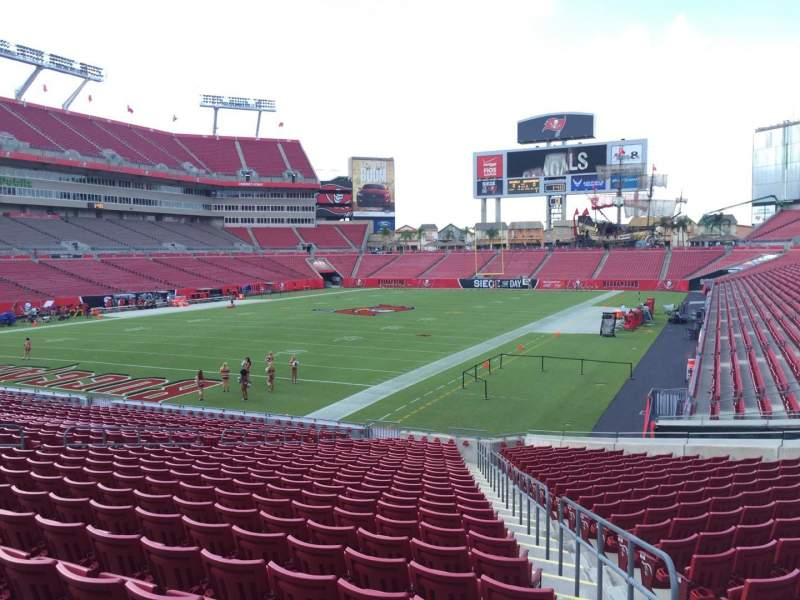 Seating view for Raymond James Stadium Section 126 Row Cc Seat 24