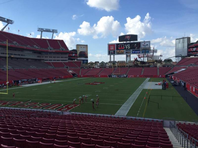Seating view for Raymond James Stadium Section 125 Row Cc Seat 24