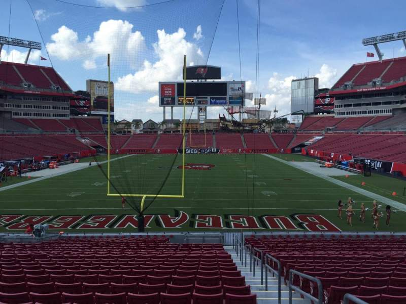 Seating view for Raymond James Stadium Section 123 Row Cc Seat 24