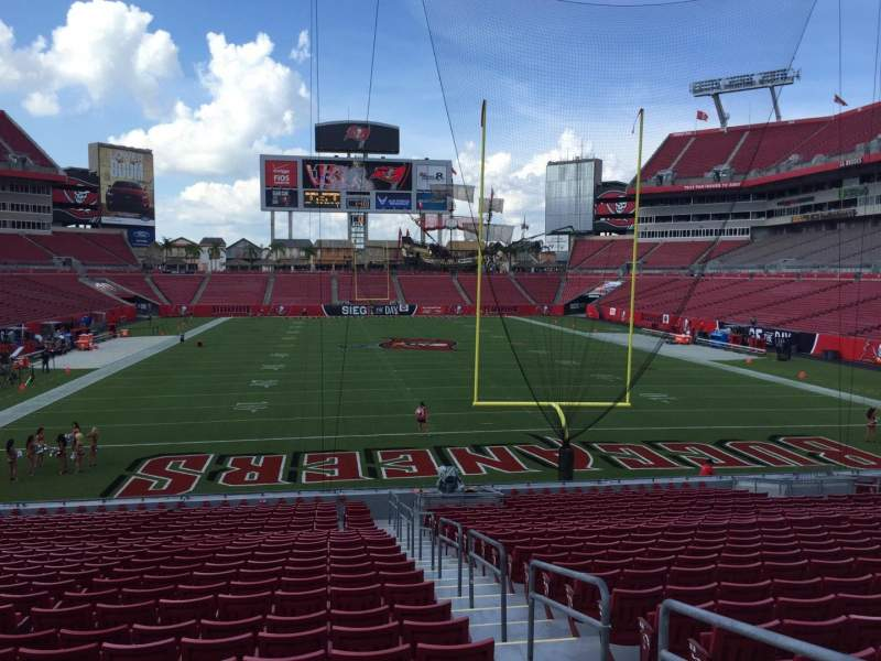 Seating view for Raymond James Stadium Section 122 Row Cc Seat 24