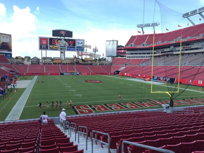 Seating view for Raymond James Stadium Section 121 Row Cc Seat 24