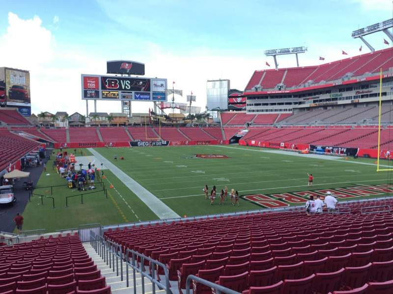 Seating view for Raymond James Stadium Section 120 Row Cc Seat 24