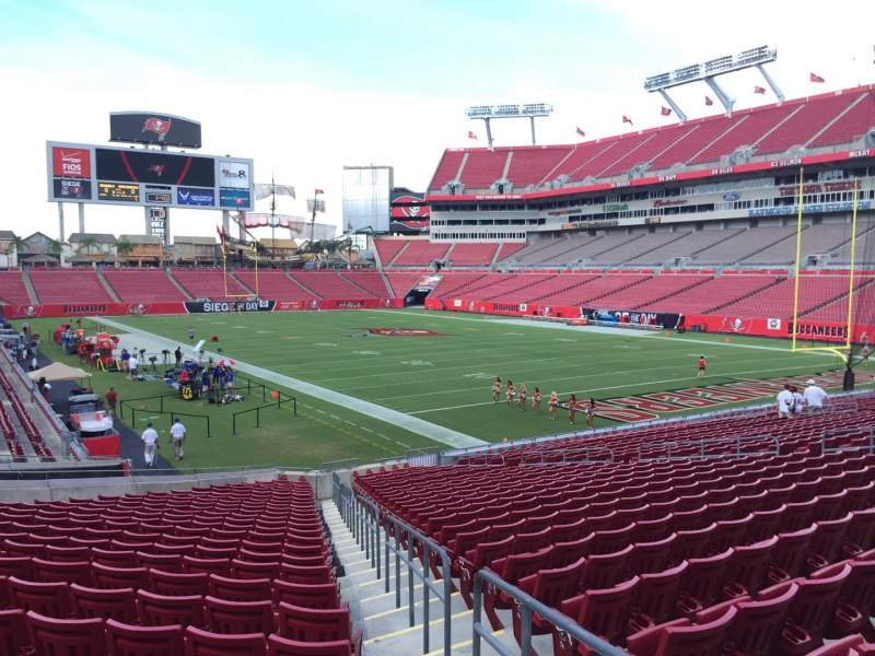 Seating view for Raymond James Stadium Section 119 Row Cc Seat 24