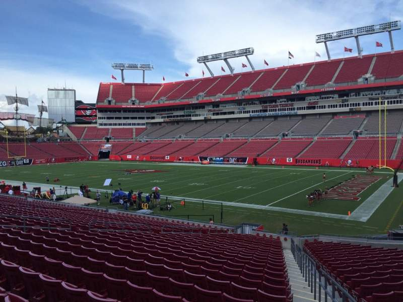 Seating view for Raymond James Stadium Section 115 Row Cc Seat 24