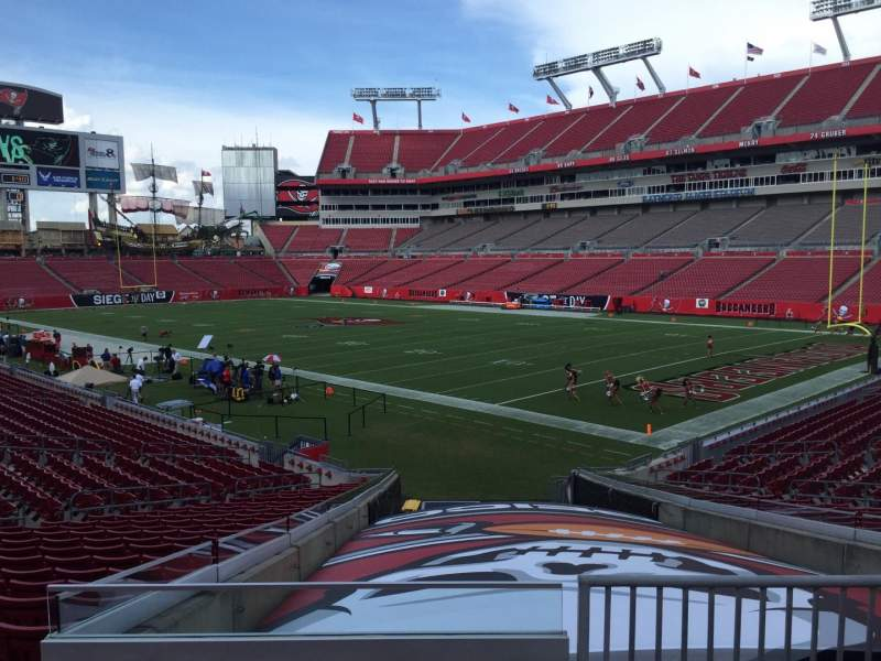 Seating view for Raymond James Stadium Section 118 Row Cc Seat 24