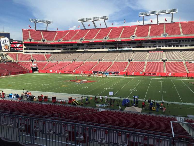Seating view for Raymond James Stadium Section 213 Row E Seat 18