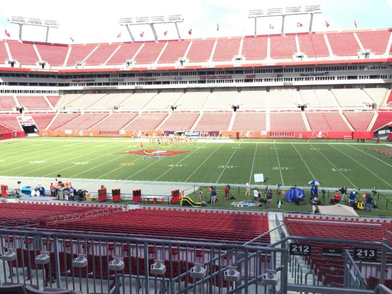 Seating view for Raymond James Stadium Section 212 Row E Seat 22