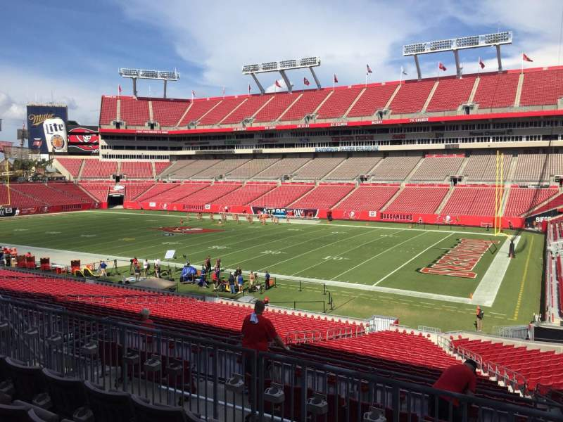 Seating view for Raymond James Stadium Section 215 Row F Seat 24