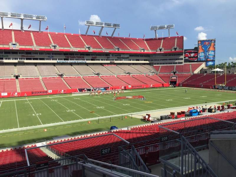 seating chart raymond james stadium