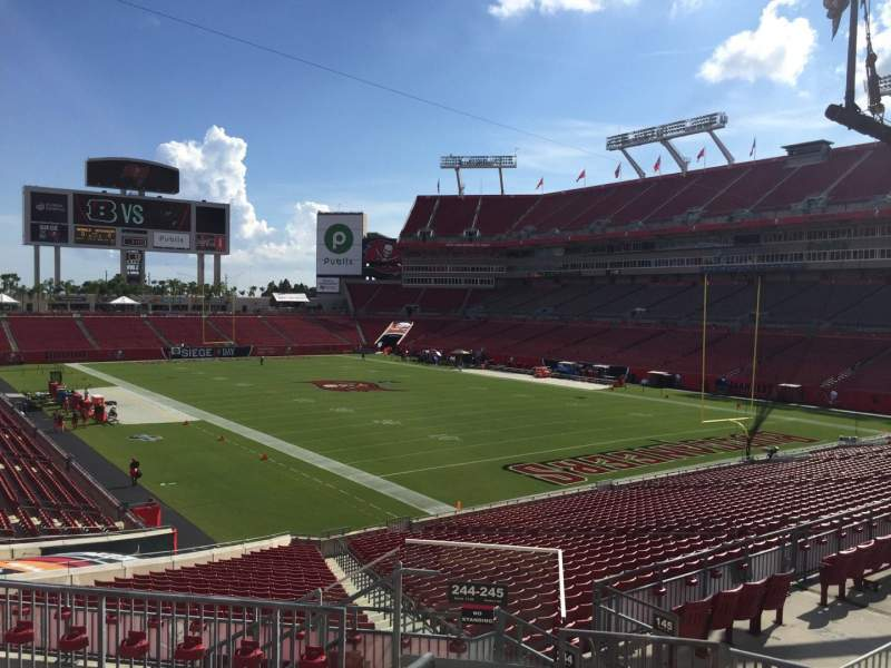Seating view for Raymond James Stadium Section 245 Row F Seat 1