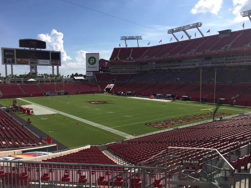 Seating view for Raymond James Stadium Section 244 Row F Seat 24