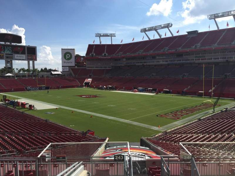 Seating view for Raymond James Stadium Section 243 Row F Seat 24