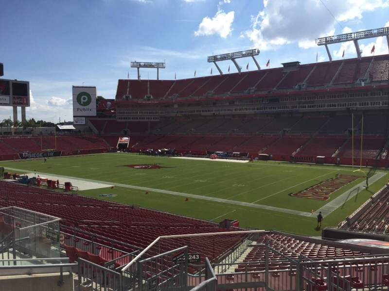 Seating view for Raymond James Stadium Section 242 Row F Seat 24