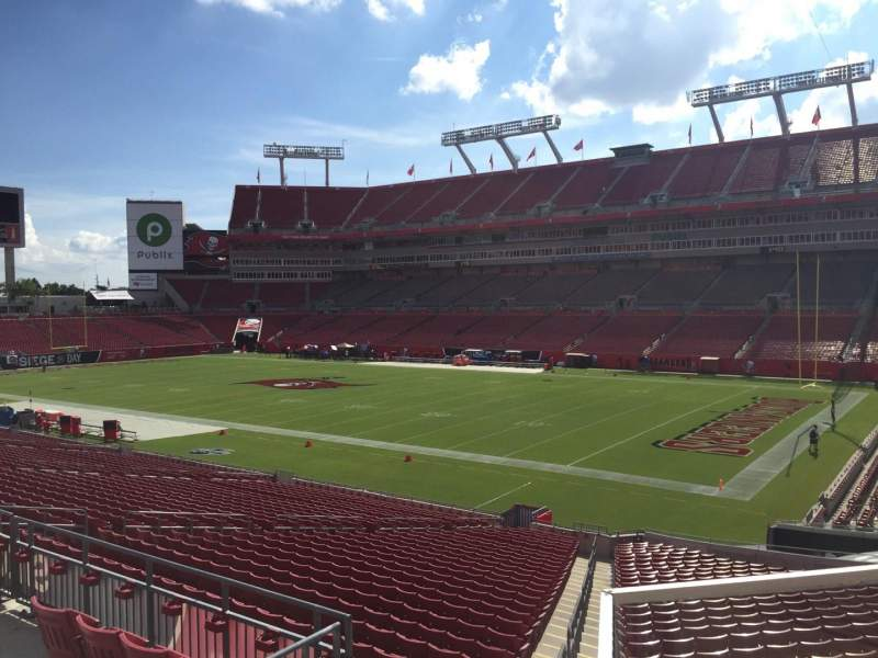 Seating view for Raymond James Stadium Section 241 Row F Seat 22