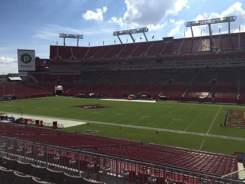 Seating view for Raymond James Stadium Section 239 Row F Seat 22