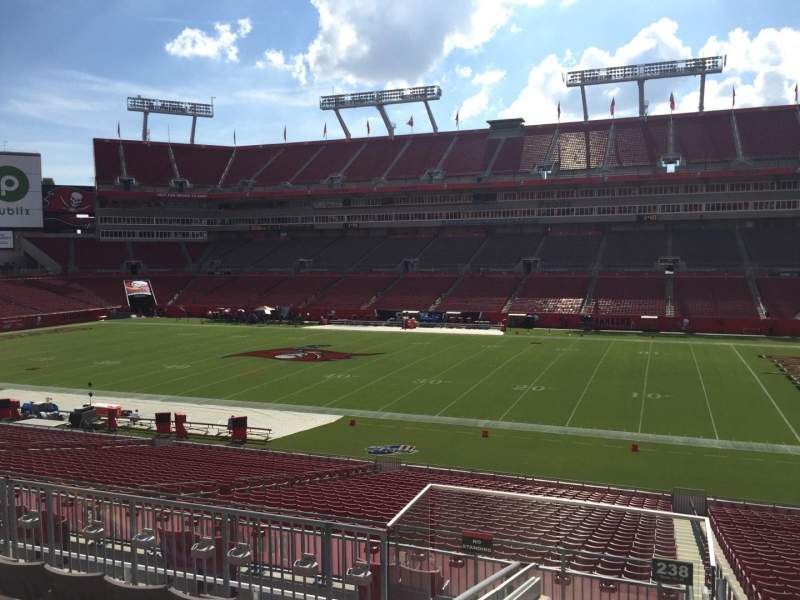 Seating view for Raymond James Stadium Section 238 Row F Seat 22