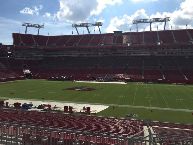 Seating view for Raymond James Stadium Section 237 Row F Seat 22