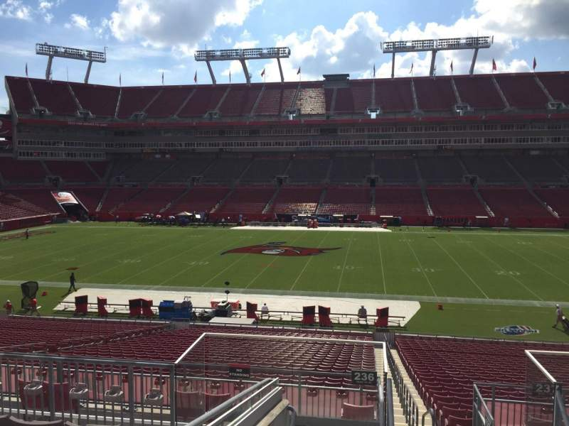 Seating view for Raymond James Stadium Section 236 Row F Seat 22