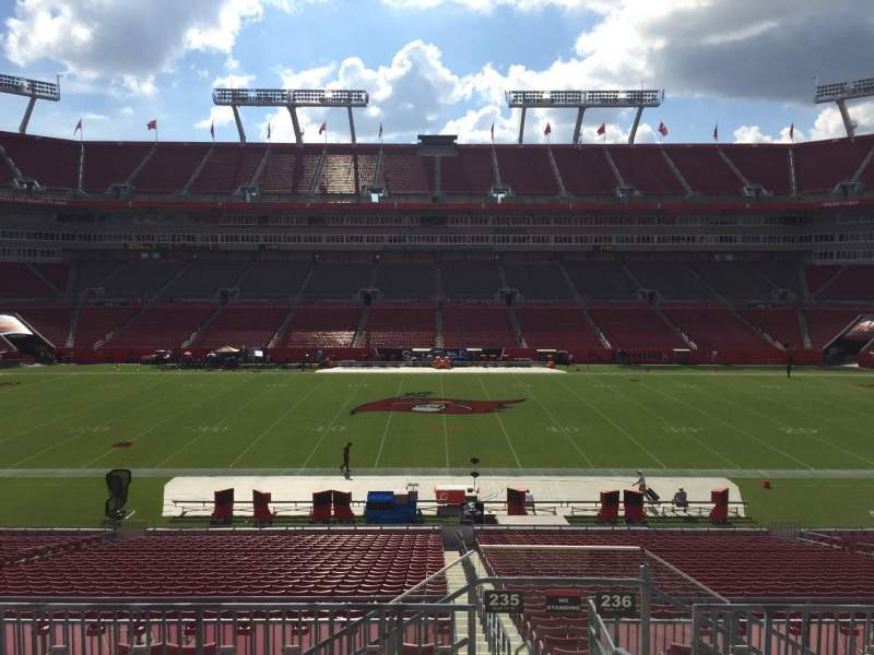 Seating view for Raymond James Stadium Section 235 Row F Seat 23
