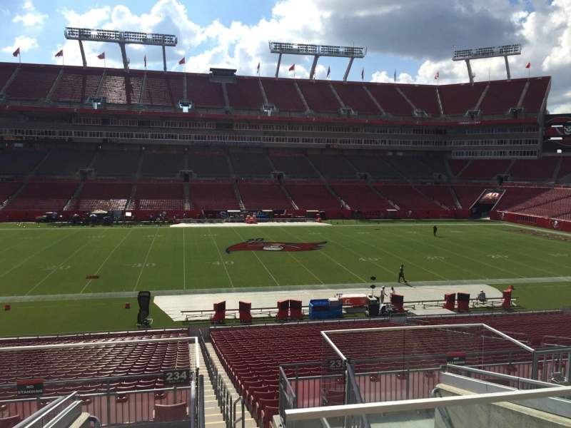 Seating view for Raymond James Stadium Section 234 Row F Seat 22