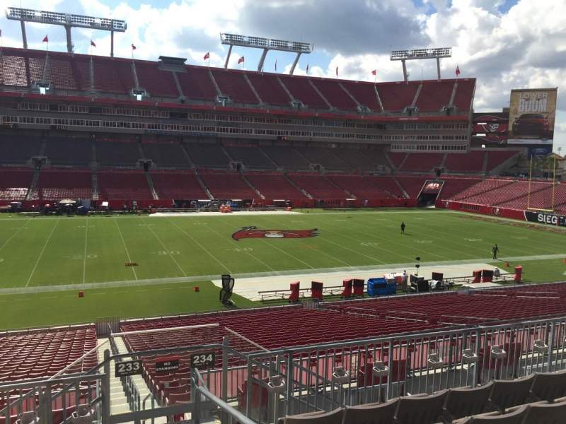 Seating view for Raymond James Stadium Section 233 Row F Seat 23