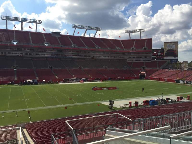 Seating view for Raymond James Stadium Section 232 Row F Seat 24