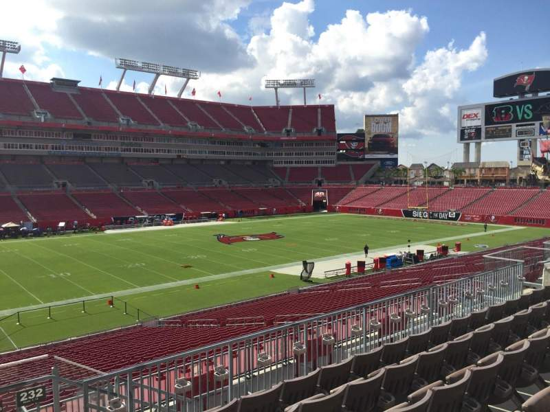 Seating view for Raymond James Stadium Section 231 Row F Seat 24