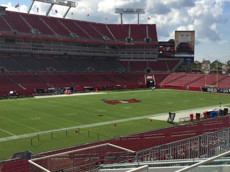 Seating view for Raymond James Stadium Section 230 Row F Seat 18