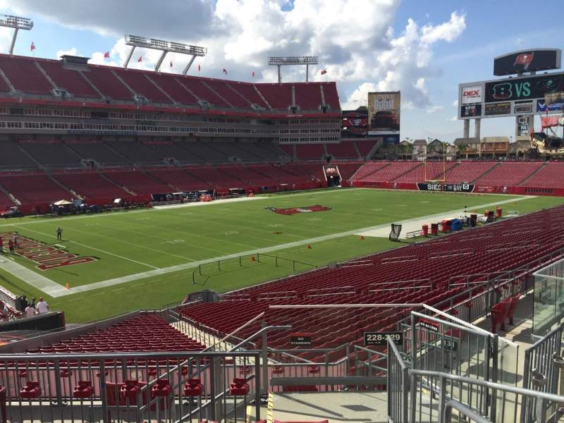 Seating view for Raymond James Stadium Section 228 Row f Seat 1