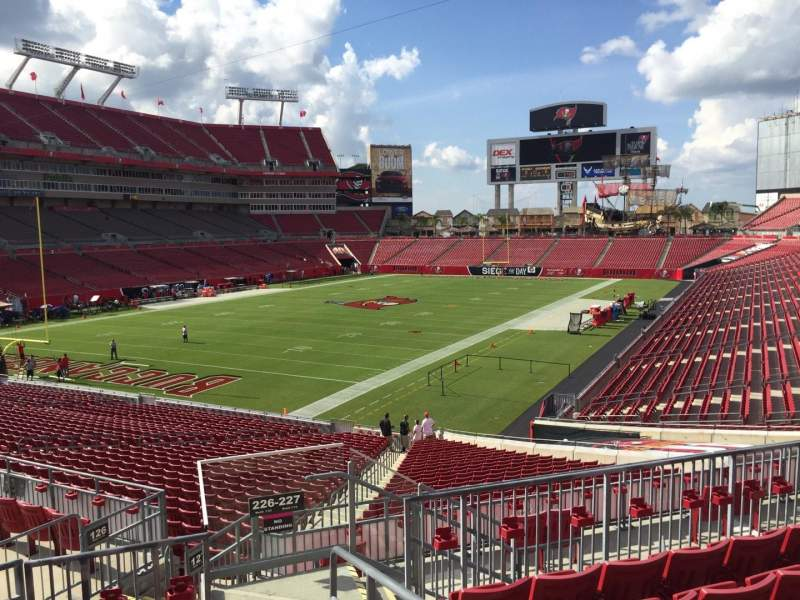 Seating view for Raymond James Stadium Section 226 Row F Seat 1