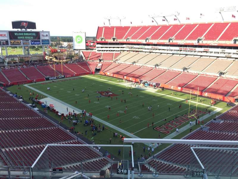 Seating view for Raymond James Stadium Section 318 Row E Seat 24