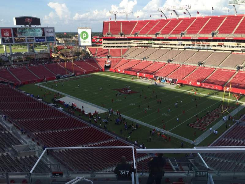 Seating view for Raymond James Stadium Section 317 Row E Seat 24