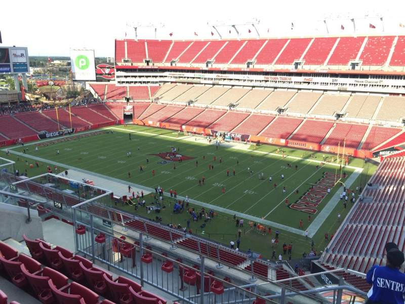 Seating view for Raymond James Stadium Section 316 Row E Seat 24