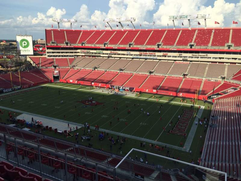 Seating view for Raymond James Stadium Section 315 Row E Seat 24