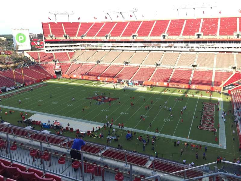 Seating view for Raymond James Stadium Section 314 Row E Seat 24