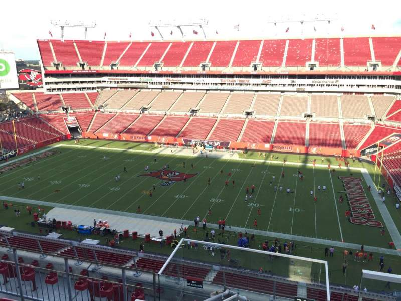 Seating view for Raymond James Stadium Section 313 Row E Seat 24