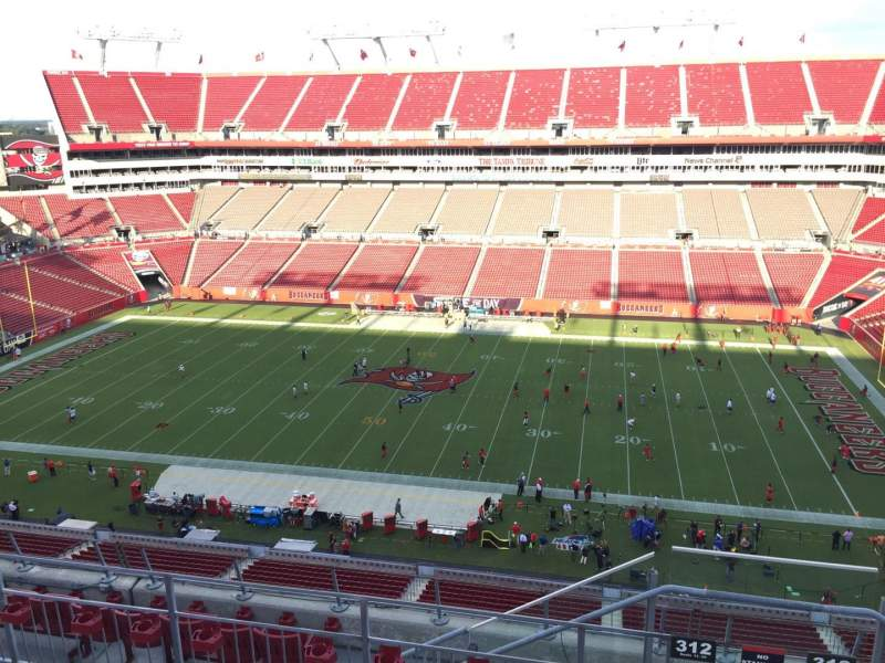 Seating view for Raymond James Stadium Section 312 Row E Seat 24