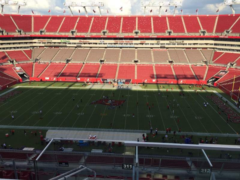 Seating view for Raymond James Stadium Section 311 Row E Seat 24